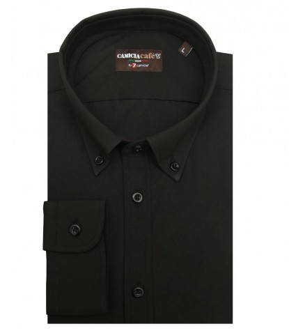 Shirt Leonardo Cotton Polyester Black