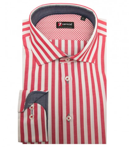 Shirt Firenze Cotton WhiteRed