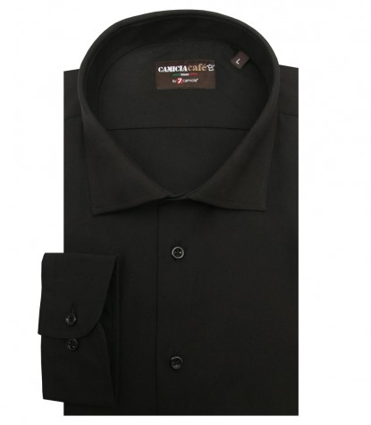 Shirt Firenze Cotton Polyester Black