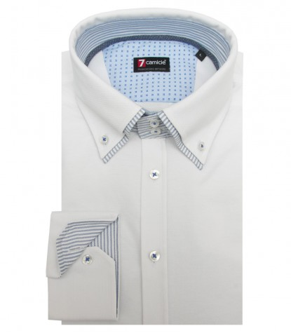 Shirt Marco Polo Jersey cotton White