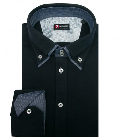Shirt Marco Polo Jersey cotton Blu