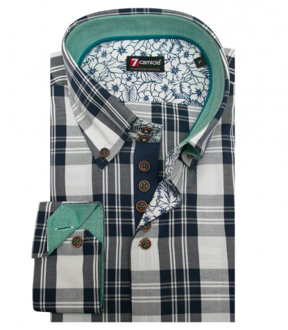 Camicia Roma Super oxford BluBianco