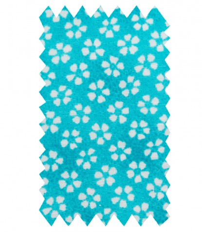 Chemises Roma Coton Polyester turquoise clair blanc