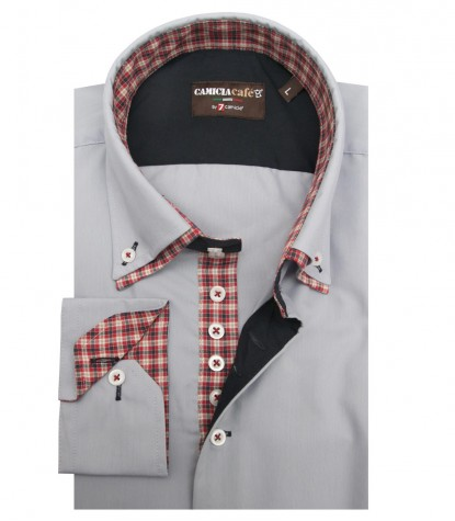 Shirt Marco Polo Cotton Polyester Light Grey