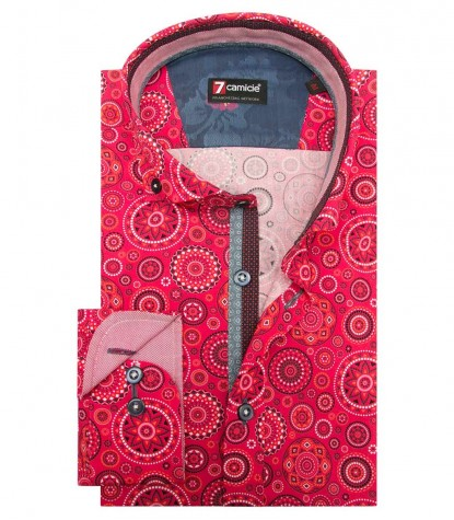 Shirt Leonardo Poplin Fucsia and Orange