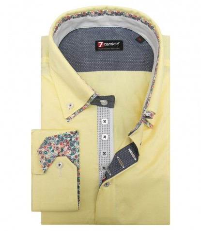 Shirt Marco Polo Satin Yellow