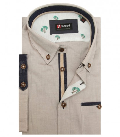 Shirt Leonardo Oxford Dove Brown