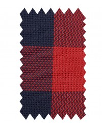Shirt Leonardo Weaved Brick Red and Dark Blue