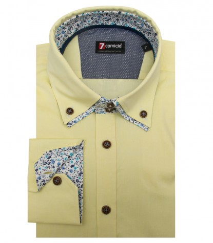 Chemises Marco Polo Oxford Jaune