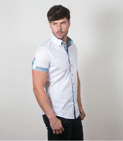 Shirt Roma stretch poplin White