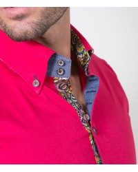 Shirt Roma stretch poplin Persia Red