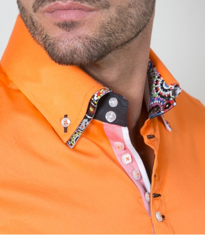 Chemises Marco Polo Satin Orange vif