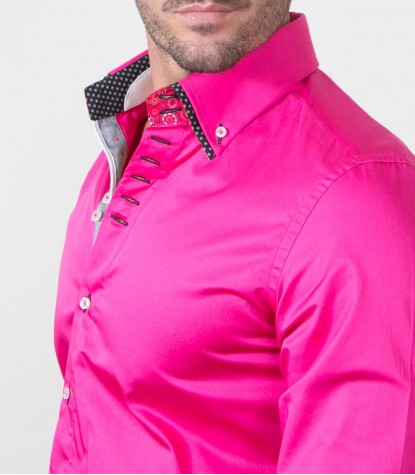 Shirt Marco Polo Satin Iridescent Pink