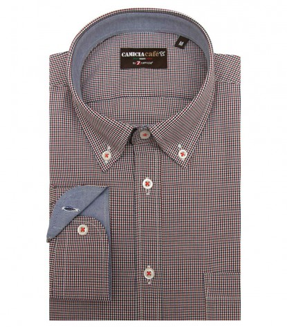 Shirt Leonardo Cotton Polyester WhiteOrange