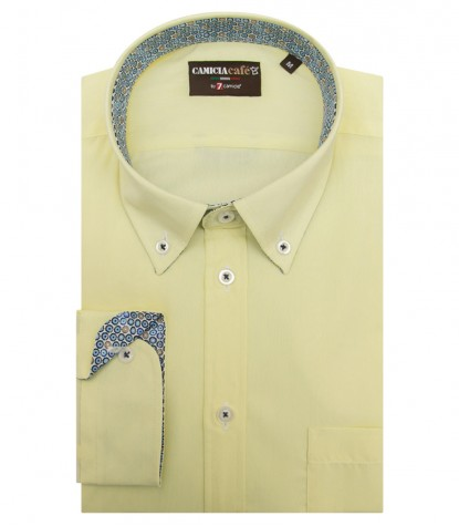 Shirt Leonardo Cotton Polyester Yellow