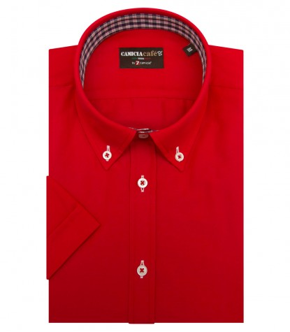 Shirt Leonardo Cotton Polyester Red