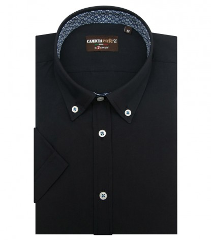 Shirt Leonardo Cotton Polyester Blu