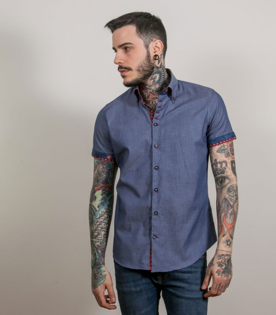Shirt Roma Jeans Light BlueWhite