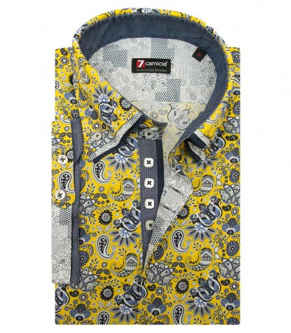 Shirt Vesuvio Poplin YellowWhite